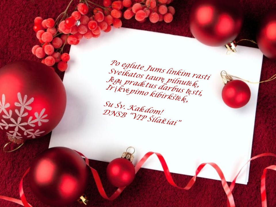 2015 kalėdinis sveikinimas